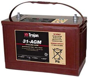 Trojan T31-AGM 12V 100Ah Group 31 Deep Cycle AGM Battery