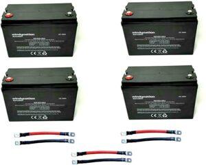 4pcs WindyNation 100 amp-Hour 100AH 12V