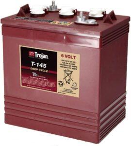 Trojan T-125 6V 240Ah Flooded Lead Acid GC2 Deep Cycle Battery