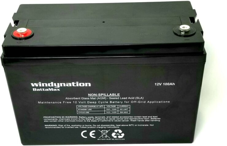 WindyNation 100AH 12V AGM Deep Cycle Battery