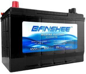 Banshee D27M Group 27 Deep Cycle Marine Battery