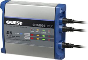 Guest 2711A ChargePro On-Board Battery Charger 10A / 12V, 2 Bank, 120V Input