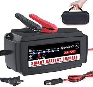LST 12V 5A Automatic Battery Charger Maintainer Smart Deep Cycle Battery Trickle Charger for Automotive
