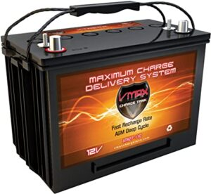 VMAX XTR27-110 AGM Marine Battery 12V 110Ah Group 27 Sealed Deep Cycle Battery