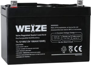 Weize 12V 100AH Group 27 Marine Deep Cycle Battery