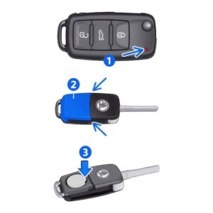 Changing car key battery